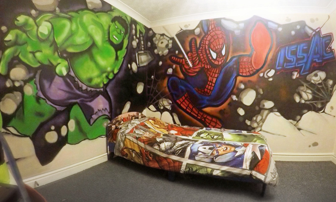 Competition Winners Bedroom. Graffiti Rooms   UK Graffiti Artist Hire